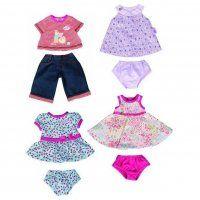 Одежда для кукол Беби Борн Набор одежды для кукол Беби Борн 43 см оригинальный(в комплекте 4 вида одежды), Zapf Creation(Германия).   Цена за комплект.