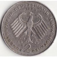 2 марки 1990 год (D) Курт Шумахер, 30 лет Федеративной Республике (1949-1979)