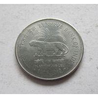 Индия 2 рупии 2010 75 лет Резервному банку Индии