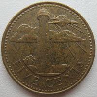 Барбадос 5 центов 1996 г. (g)