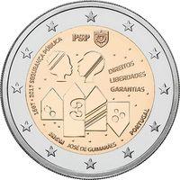 2 евро Португалия 2017. 150 лет Полиции общественной безопасности. Из ролла
