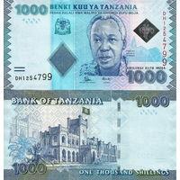 Танзания 1000 шиллингов образца 2015 года UNC p41b