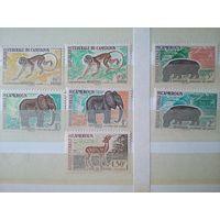 Камерун.1962. Животные. 7 марок