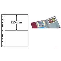 Лист на 2 боны (банкноты, купюры конверты карточки открытки) 2S (прозрачный) Leuchtturm, формат ОПТИМА