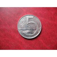 5 крон 1995 Чехия