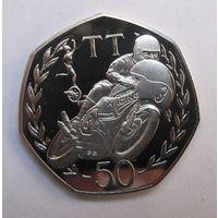 Мэн, 50 пенсов, 1991, пруф