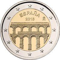 2 евро Испания 2016 Старинный город Сеговия с римским акведуком UNC из ролла