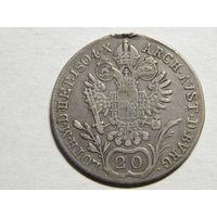 Австро-Венгрия 20 крейцеров 1804г