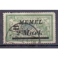Мемель (Клайпеда) 3-й выпуск на марках Франции 2 м/ 45 с ГАШ 1922 г