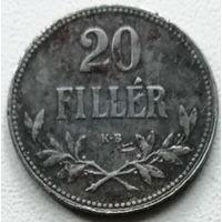 Венгрия 20 филлер 1918