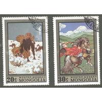 Монголия 1972. Сказки. Лошади, верблюды. Марки из серии, гаш.
