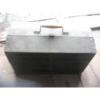 Рыболовный ящик малый 42х20 см. с ячейками легкий-аллюминий торг обмен
