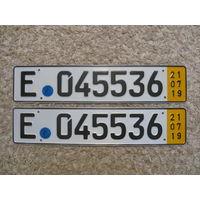 Автомобильный номер Германия E045536