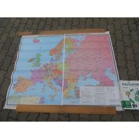 """Карта""""Европа после Второй Мировой Войны"""""""