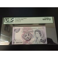 1 фунт (pound) 2009 года Остров Мэн UNC ПРЕСС 66 PPQ