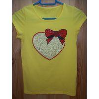 Красивая футболка для девочки т.м. De Salitto