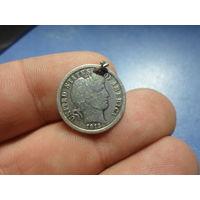 10 центов дайм 1913 г. США серебро