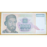 1000 динаров 1994 года - Югославия - UNC - серия ZA - замещенка