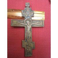 Старинный латунный крест