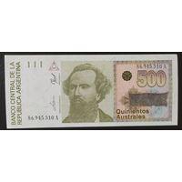 500 аустралей 1990 года - Аргентина - aUNC