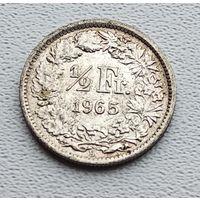 Швейцария 1/2 франка, 1965 2-12-51