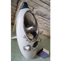 Часы-будильник с зеркалом для ванной