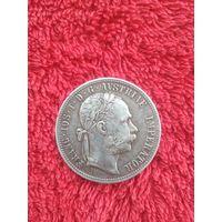 Монета 1 флорин 1877 Австро Венгрия