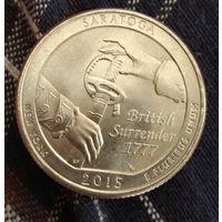 25  центов КВОТЕР  2015 США  парки Нью Йорк