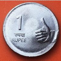 02-21 Индия, 1 рупия 2007 г. Калькутта