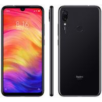 Смартфон Xiaomi Redmi Note 7 3/32Gb (Global Version, черный, стекло)