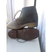Немецкие зимние/караульные ботинки на меху с деревянной подошвой. ВОВ, WW2. Германия, Рейх. Вермахт, СС.