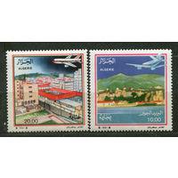 Авиация. Боинг 737 и Airbus A-310. Алжир. 1991. Полная серия 2 марки. Чистые