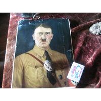 Плакат постер преступника Гитлер оригинал
