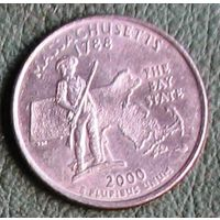 25 центов (квотер) 2000 США Массачусетс