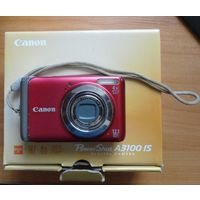 Цифровой фотоаппарат Canon A3100is новый акум
