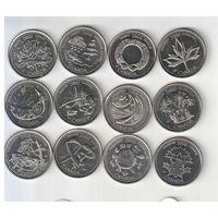25 центов 2000 года Канады Миллениум 12штук