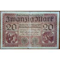 Германия, 20 марок 1918 год, Р57