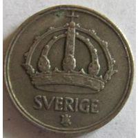 Швеция 10 эре 1947 серебро