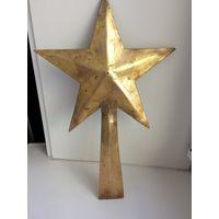 Навершие Декор Звезда с ручкой Латунь/бронза