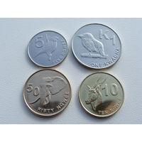 Замбия. набор 4 монеты 5, 10, 50 нгве, 1 квача 2012 год