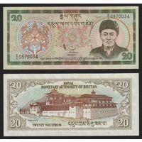 Бутан 20 нгултрум . UNC  распродажа