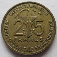 Французская Западная Африка 25 франков 1957