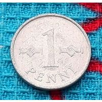 Финляндия 1 пенни 1973 года. Инвестируй выгодно в монеты планеты!