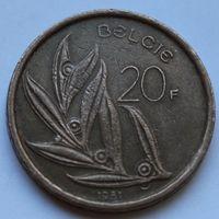 Бельгия, 20 франков 1981 г. 'BELGIE'