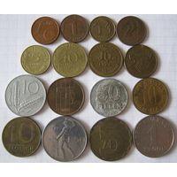 Набор иностранных монет 16 шт.