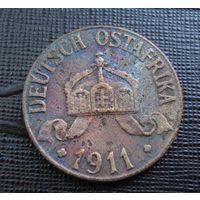 Германская Восточная Африка. 1 геллер 1911 г.