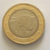1 евро 2018 Эстония UNC из ролла (тираж всего 500.000)