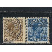 Дания 1921 Христиан X Стандарт #121,124