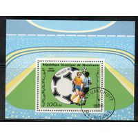 Спорт Футбол Мавритания 1986 год 1 блок
