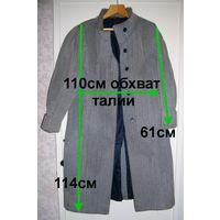 Пальто серого цвета, демисезонные из 80х, р.48-50-2шт.